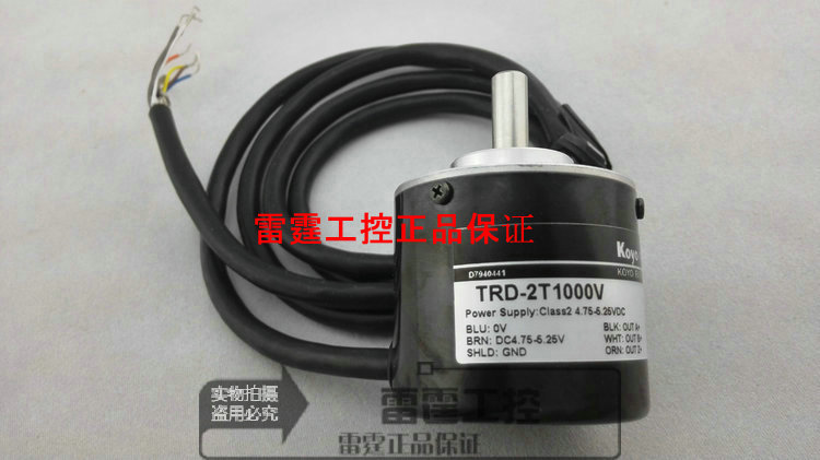 KOYO new original authentic real axis photoelectric incremental rotary encoder TRD-2T1000V new original authentic koyo photoelectric incremental hollow shaft rotary encoder trd 2th1000bf