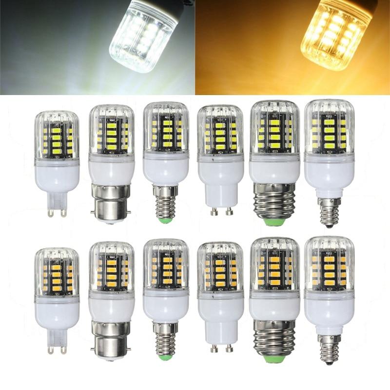 Newest Non Dimmable 3W 5730 SMD 31 LED Lamp Bulb E27/E14/E12/B22/G9/GU10 Corn LED Light Bulb AC220V Chandelier Lighting