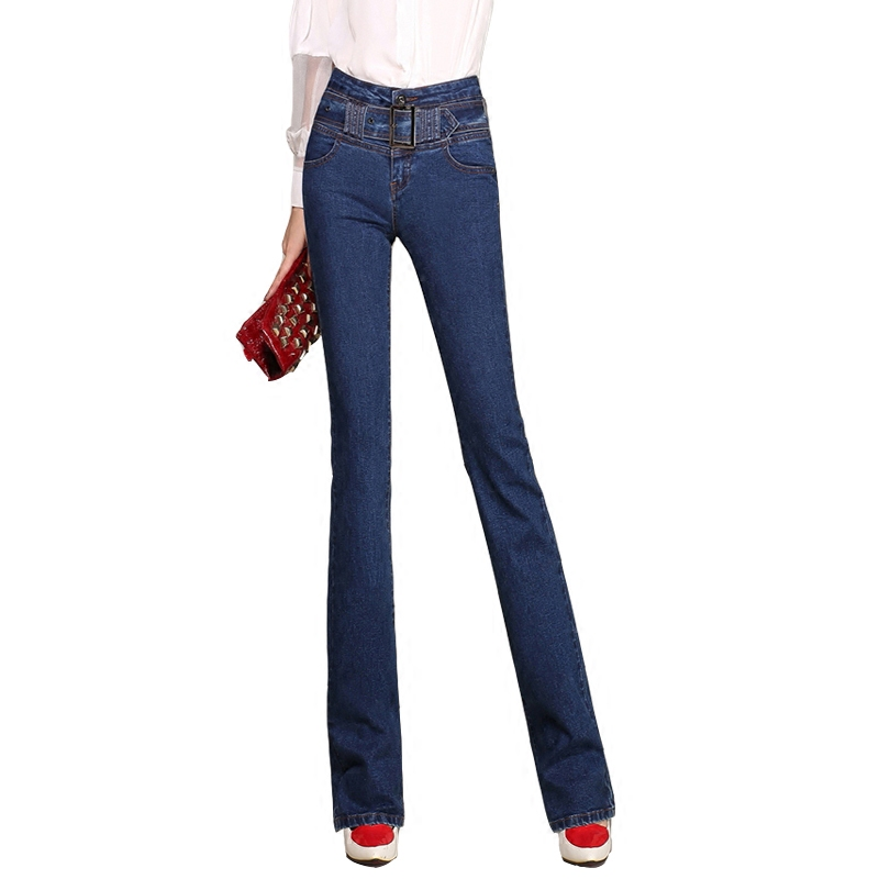 New spring high waist jeans summer Korean version of the straight speaker pants long pants   jeans woman   064