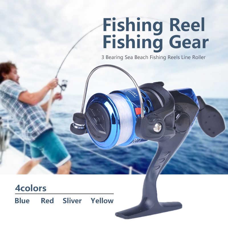 الصيد قضيب اليد عجلة الصيد بكرة الكارب الصيد بكرات Molinete Pesca المغذية الغزل بكرة المياه العذبة المياه المالحة الأسماك والعتاد