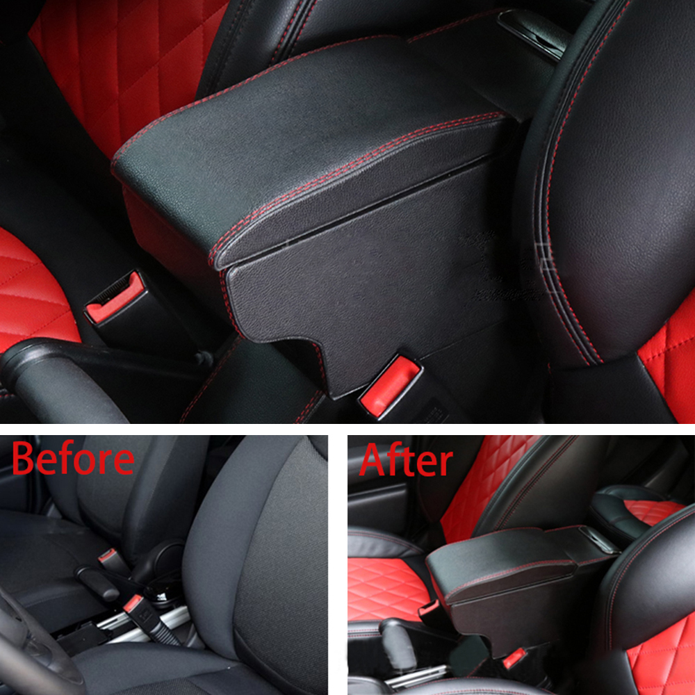 Car Center Console Armrest Box Container Leather Storage Content Box For MINI Coorper One d JCW
