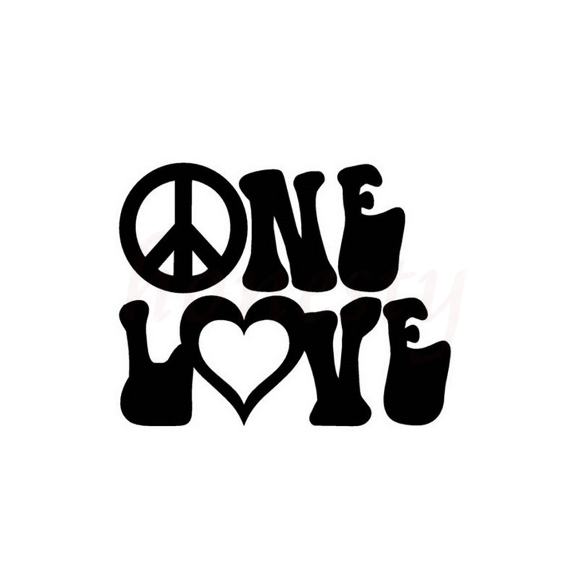Letter Peace Loving LOV Vinyl ONE Car Stickers Wall Home Glass Window Door Laptop Auto Truck Black Vinyl Decal 14.3cmX11.5cm