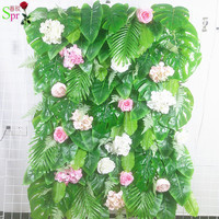 SPR 24pcs/lot Artificial green foliage wall wedding backdrop party events occasion artificial flower arrangements table runner