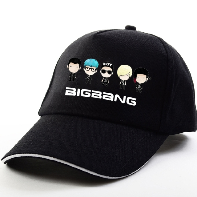 Kpop Bigbang TOP GD TAEYANG DAESUNG SEUNGRI a 10 ª estilo aniversário moda sombrinha cap harajuku hip hop chapéu esporte cap