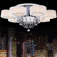 Led E27 Dimmable Stainless Steel Crystal LED Lamp LED Light Ceiling Lights LED Ceiling Light Ceiling