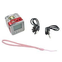 Портативный NIZHI Мини-диск спикер fm-радио Micro SD Mini USB спикер(красный