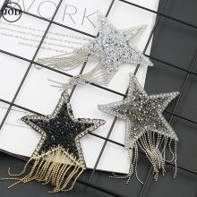 Kwastje Fringe Sequin Ster Applique Patch Strass Borduurwerk Ijzer op Patches voor Kleding Tassen Hoeden Scrapbooking Stickers(China)