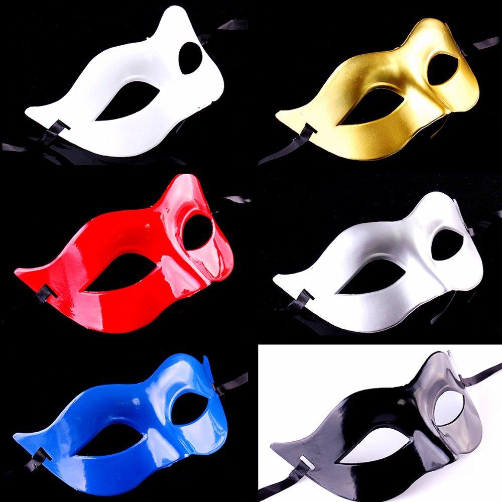 할로윈 베네치아 컬러 남성 마스크 반 얼굴 PVC 클래식 코스프레 파티 장식 마스크 가상 무용 의상 액세서리