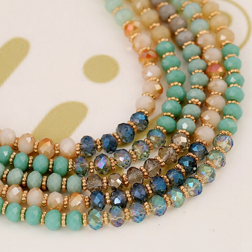 Fashion Chokers Necklaces for Women Beaded Necklace Womans Handmade Multi layer Crystal Bead Necklace Jewelry in Choker Necklaces from Jewelry Accessories