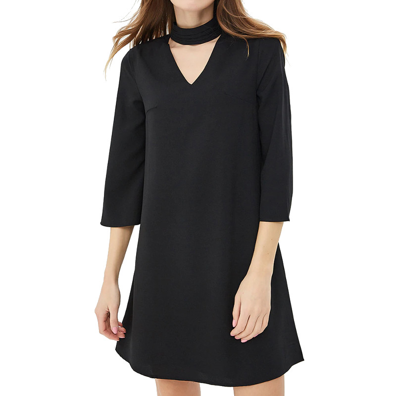 Dresses MODIS M181W00427 women dress cotton  clothes apparel casual for female TmallFS dresses dress befree for female long sleeve women clothes apparel casual spring 1811369593 50 tmallfs
