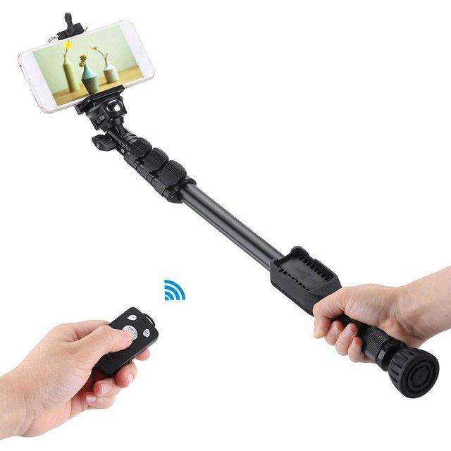 Portátil Handheld Bluetooth Selfie Vara Monopé para