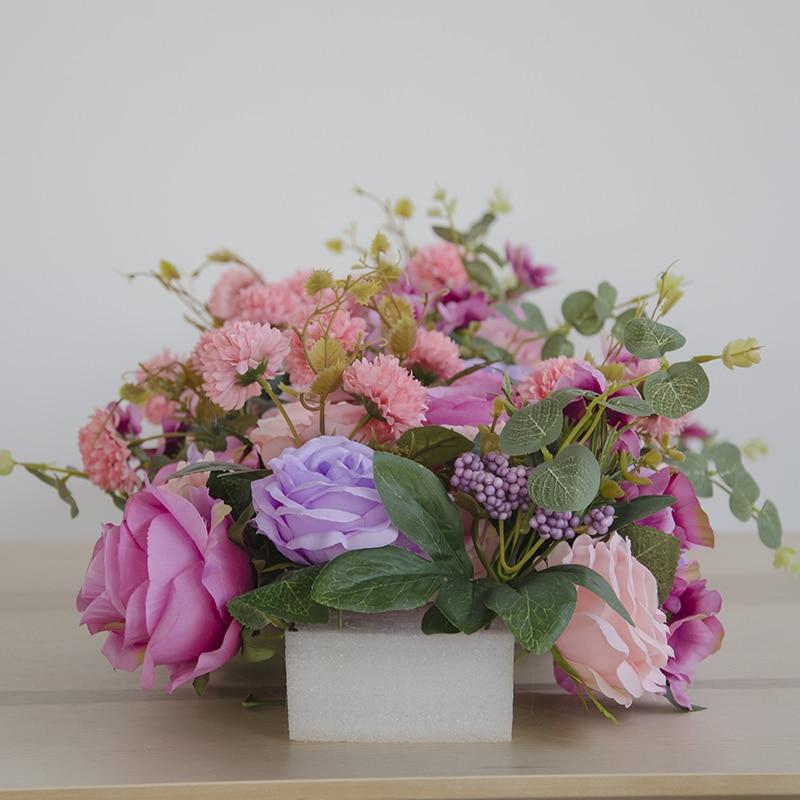 Fiore di simulazione arco arco di nozze negozio di fiori decorazione della finestra da sposa T Taiwan citato photo studio di fotografia di scena-in Fiori secchi e artificiali da Casa e giardino su  Gruppo 3
