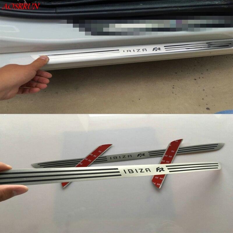 Edelstahl Tür-Schwellen-verschleiss-Platte auto Zubehör fit für SEAT Ibiza FR ST 6L 6J MK3 MK4 MK5 5 -tür fließheck 2002-2018 4 stücke