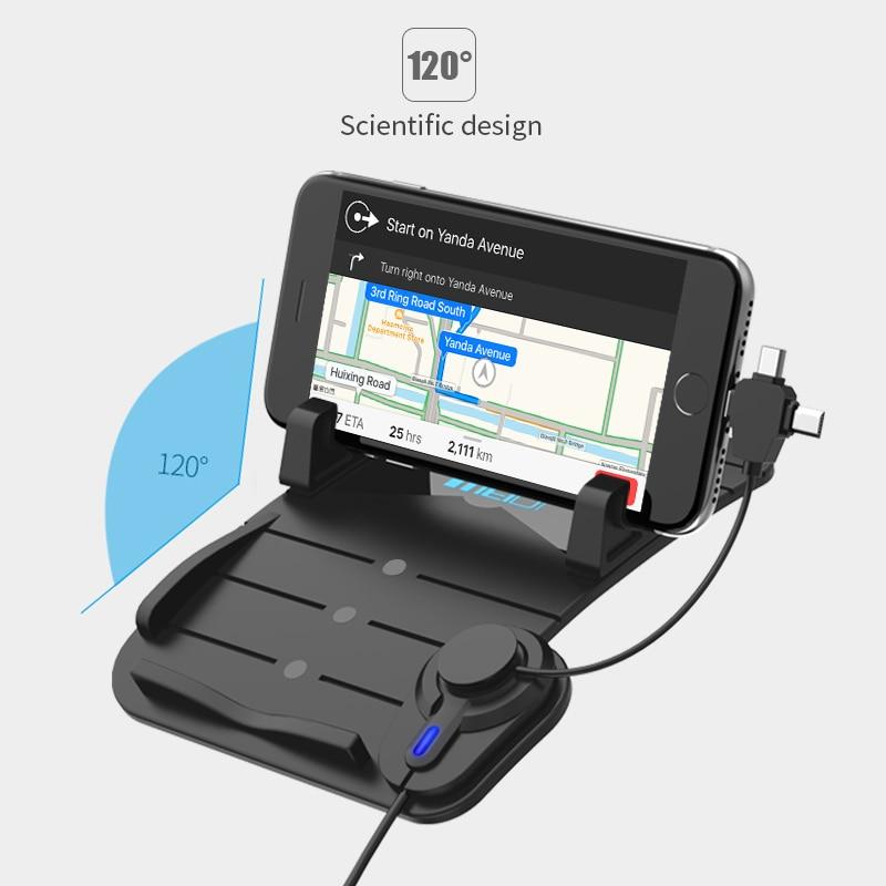 MEIDI Bilmontering Telefonlader Holder USB med DC 5V 2.1A Porta - Bilinnredningstilbehør - Bilde 5