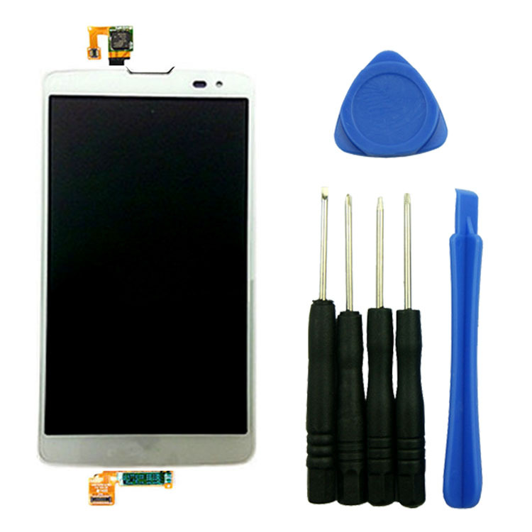 ФОТО White Repair Part Replacement Front Lens Assembly LCD Screen Touch Digitizer For LG G Vista VS880 D631 with tools