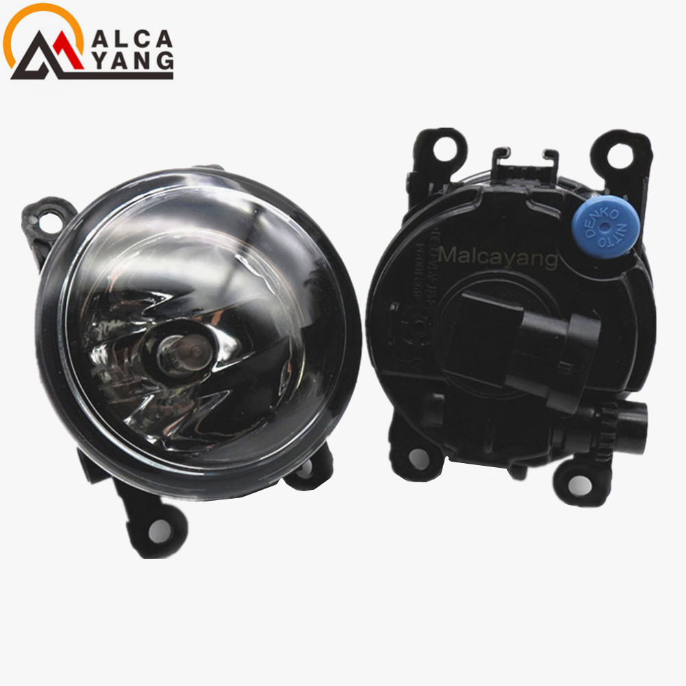 Malcayang 6000K For Renault SCENIC 2 2003-2015 Front Fog Lamps Fog Lights Halogen LED Car Styling 1 SET 35500-63J02 8200074008 malcayang fog lights for polo 12v 55w h11 1 set car styling halogen for lexus rx350 awd 2009 2013