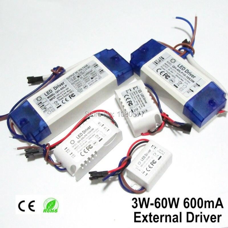 2pcs LED Fuente de alimentación 600mA Controlador de lámpara 3W 6W - Accesorios iluminación - foto 3