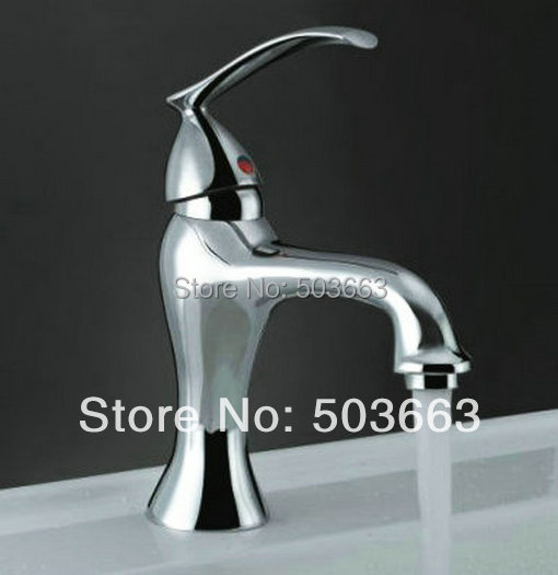 No Need Battery Beautiful Led Bathroom Faucet Chrome Finish Deck Mounted Basin Sink Faucet Mixer Tap Waterfall Faucet B-037