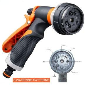 Image 1 - 8 パターン庭の水鉄砲ホースノズル家庭用洗車ヤード水噴霧器ガーデン水ホースノズル振りかけるツール