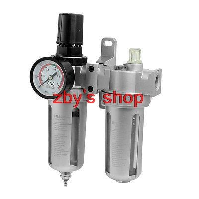 3/8 PT Port Pneumatic Filter Regulator Air Source Treatment Unit w Gauge 3 8 pt port pneumatic filter regulator air source treatment unit w gauge sfc 300