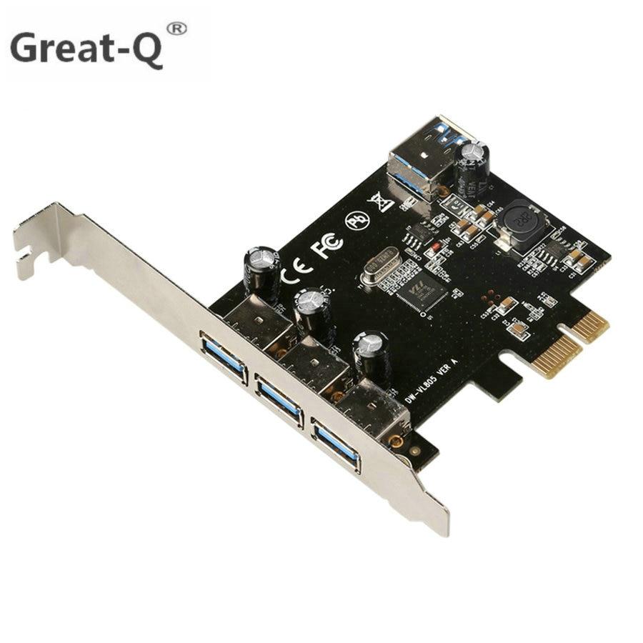 USB 3.0 (3 + 1) 3 Externe + 1 interne poorten pci-e PCI Experss pci e Controller uitbreidingskaart Kaartadapter PCIE-adapter