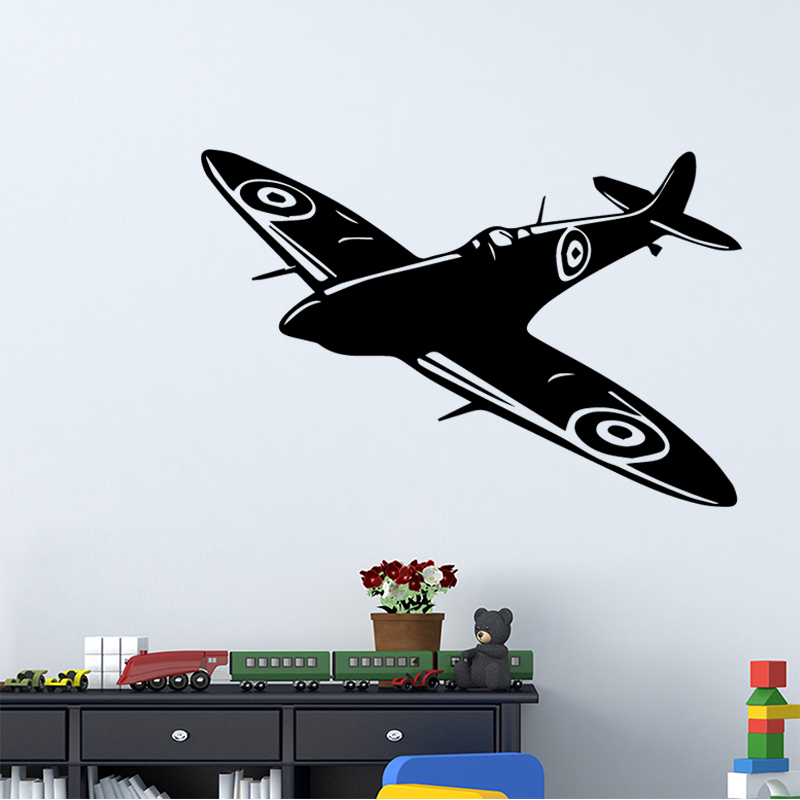 Creative airplane Vinyl Wall Sticker Home Decor Stikers For Kids Room Decoration Sticker Mural image