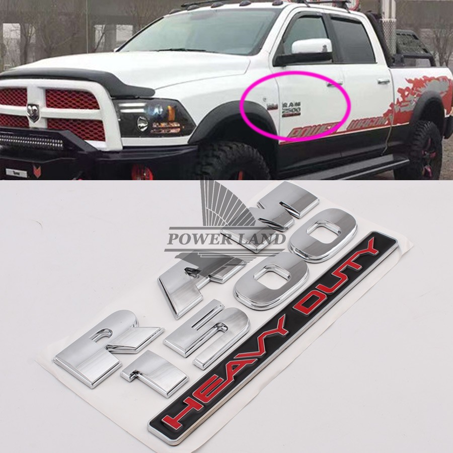1set car styling chrome 3d abs ram1500 heavy duty car truck body stickers badge emblem decal universal for all car dodge ram1500