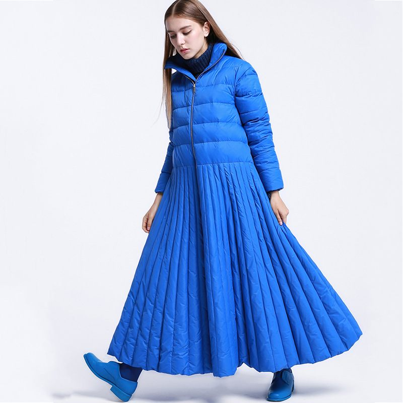 Winter Womens Down Jacket Skirt Oversize 7XL Stand Collar Solid Warm Large Size Long Down Coat Female Top Brand Outerwear New