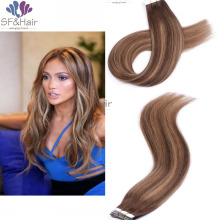 Tape in Human Hair Extensions Panio Color 100% Natural Hair Remy Tape Hair Extension 20pcs/set Ombre Tape Hair