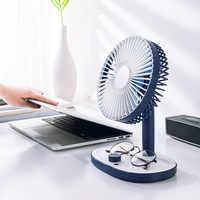 Kbaybo Mini USB batería recargable incorporada ventilador de refrigeración de aire ventilador de escritorio ventilador de dormitorio para estudiantes ventilador portátil de escritorio