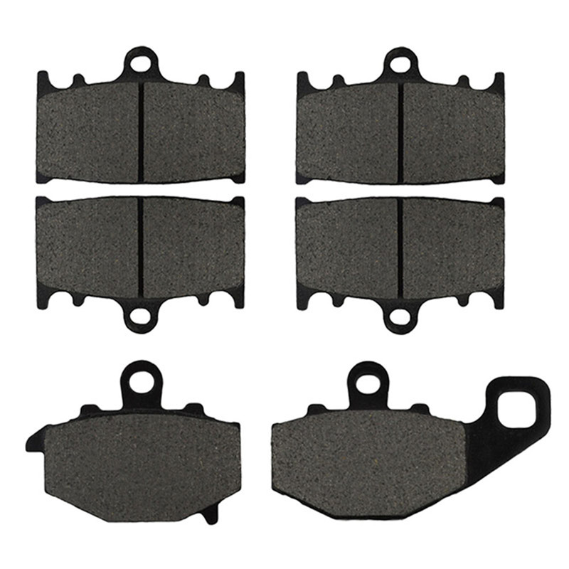 Motorcycle Front and Rear Brake Pads for KAWASAKI ZZ-R 400 ZZR400 (ZX 400 N) 1993-1999 Black Brake Disc Pad Kit motorcycle front and rear brake pads for yamaha fzr 400 r fzr400r 1989 brake disc pad