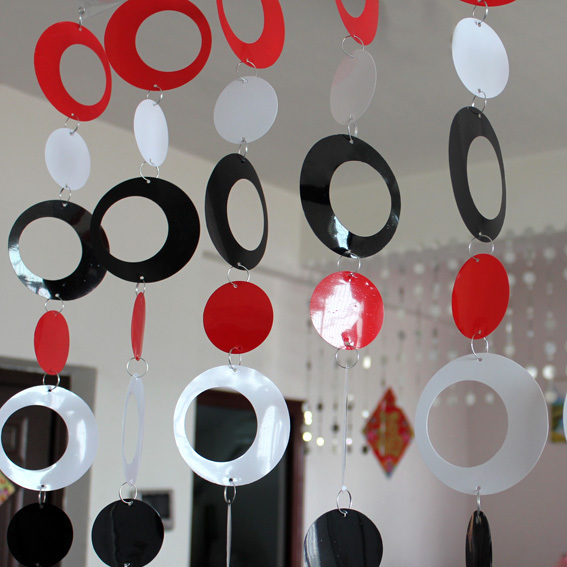 Farvet plast Curtain børneværelse tegneserie dekorative gardin Interiør hjem dekoration
