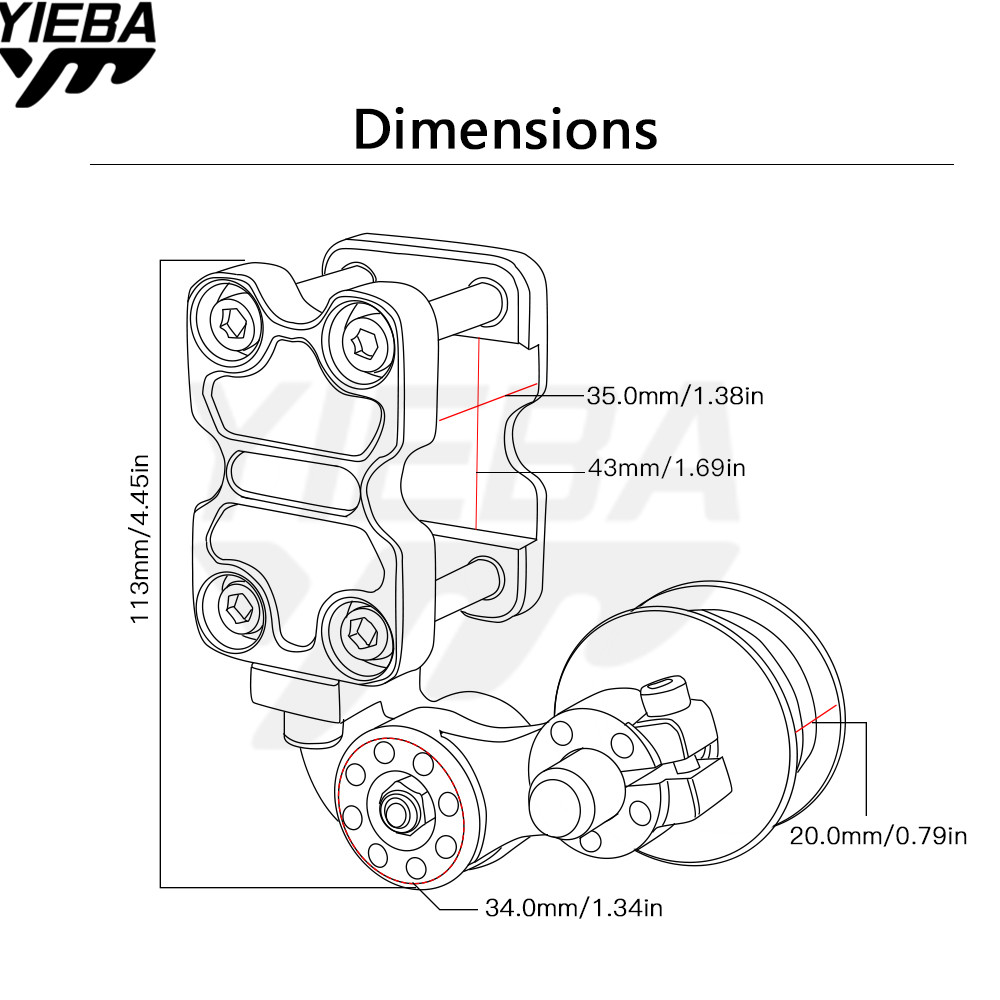 Universal Aluminum Adjuster Chain Tensioner Roller Motorcycle Atv For Honda Crf230f Crf450x Crf250x Crf450r Crf250r 04 16 Xr650r In Covers Wire Diagram Ornamental