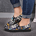 Spring and autumn female Korean graffiti canvas shoes women leisure pattern shoes lady soft comfortable slip on shoes