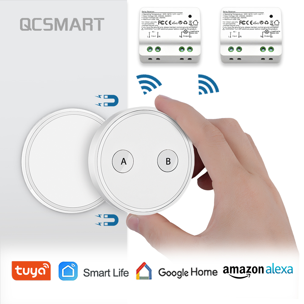 Tuya WiFi Switch With A Remote, 15A, Smart Life App, Voice Control By Google Home Amazon Alexa Echo IFTTT