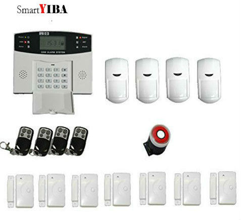 SmartYIBA Voice Prompt Wireless Alarm System Door Sensor Motion Alarm GSM SMS Burglar Alarm System For Home Security new 433mhz wireless door window sensor for gsm pstn home alarm system home security voice burglar smart alarm system