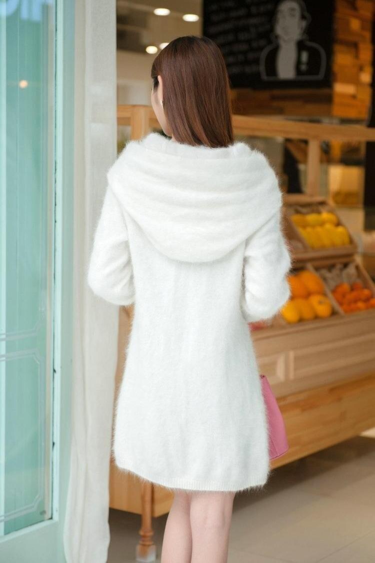 Новинка, длинное пальто из натурального меха норки DFP385, куртка из натурального меха