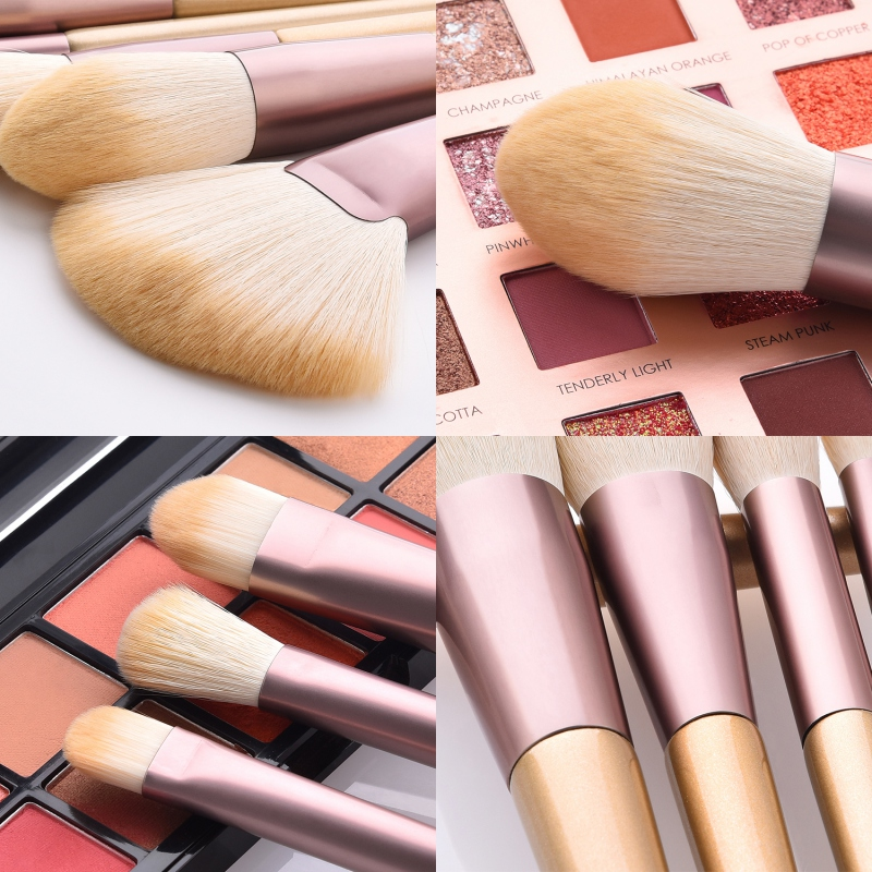 18Pcs Makeup Brushes Set Loose Powder Brush Foundation Brush Eyeshadow Eyebrow Lip Brush Fan Brush Kit in Eye Shadow Applicator from Beauty Health