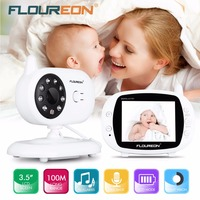 Wireless Night Vision Infant Baby Monitor Video LCD Monitor Camera Music Audio Temperature Display Radio Baby