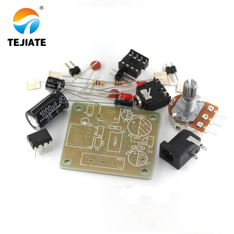 LM386 MINI <font><b>Amplifier</b></font> Board DIY Kit 3V-12V Power <font><b>Amplifier</b></font> Suit Electronic Fun Kits Beyond <font><b>TDA2030</b></font> TEJIATE image