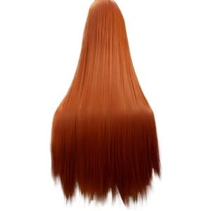 Image 2 - HAIRJOY כתום ירוק סגול מסיבת תחפושות פאת קוספליי ארוך ישר סינטטי שיער פאות 15 צבעים זמין משלוח חינם