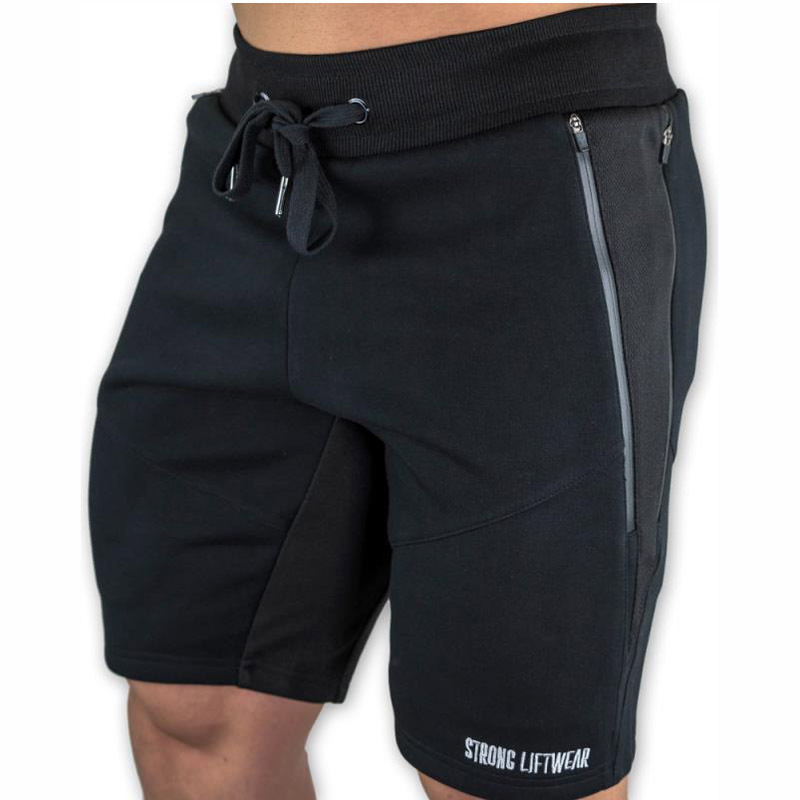 Mens Slim fit cotton   shorts   Fashion Casual gyms fitness Bodybuilding Workout male Sportswear   short   pants Jogger Brand Sweatpants