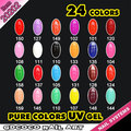 #20202 free shipping bulk package camouflage uv gel,colorful soak off uv gel
