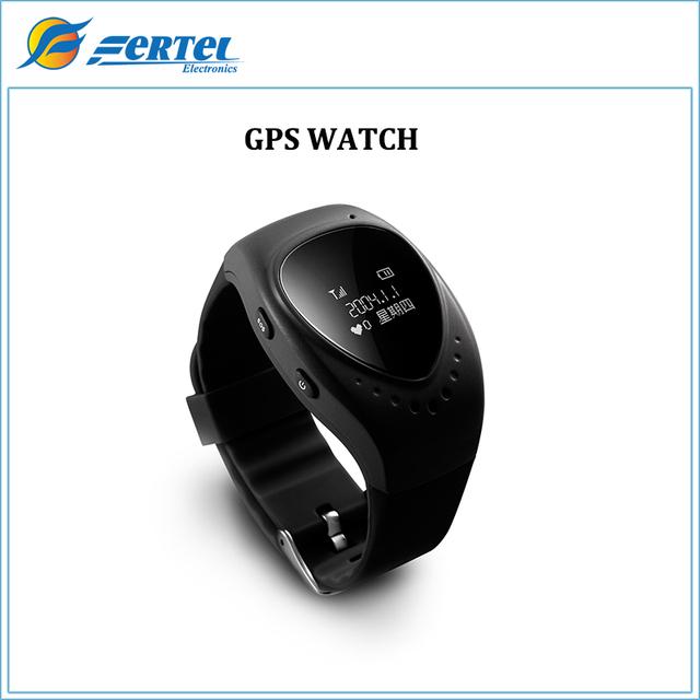 Chegada nova Cor Preta A6 GPS Track Relógio para Crianças dos miúdos smart watch com o botão sos gsm suporte por telefone android & ios anti perdido