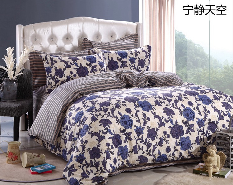 floral print bedding sets of quilt cover u0026 bedsheet u0026 pillowcase 40s cotton cheap quilt sets covered on bed set queenfull size