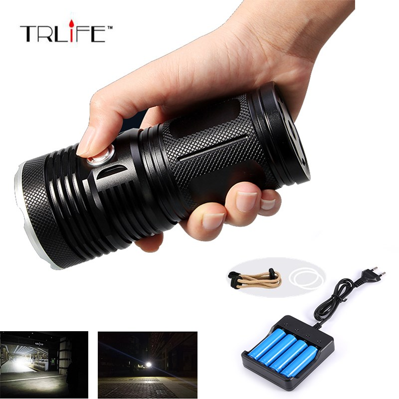 30000Lumen 18xCree XML-T6,3 Modes Zoomable Focus,4x18650 Battery Powered,Strap Aluminum Flashlight Light Lamp Torch sitemap 30 xml page 1