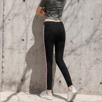 Height Waist Casual Striped Gothic Fitness Legging