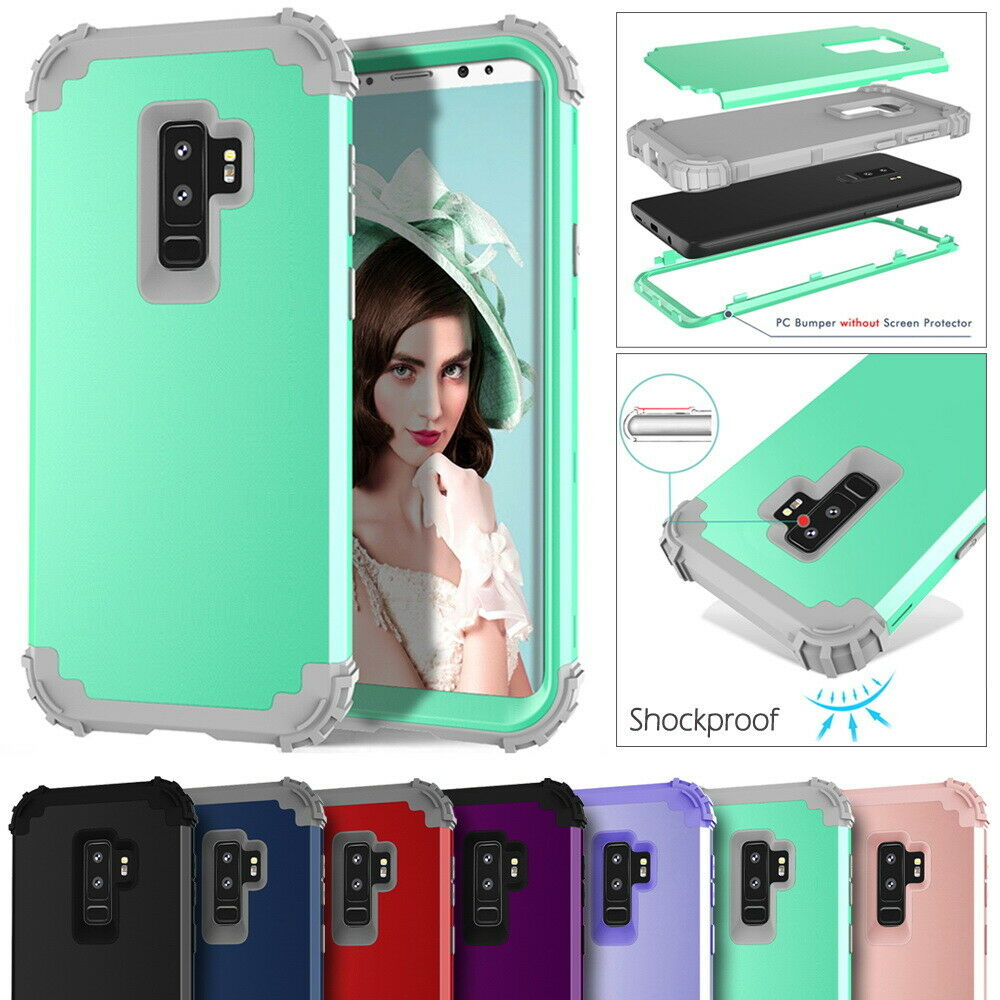 3 In 1 High Impact Cover For Samsung Galaxy S10 S9 S8 Plus Note 8 9 New Armor Shockproof Hybrid Protector Combo Case Shell