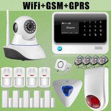 Cámara de Red G90B Etiger WiFi Inalámbrica GSM Alarma Antirrobo Intruso Sirena de Destello Al Aire Libre
