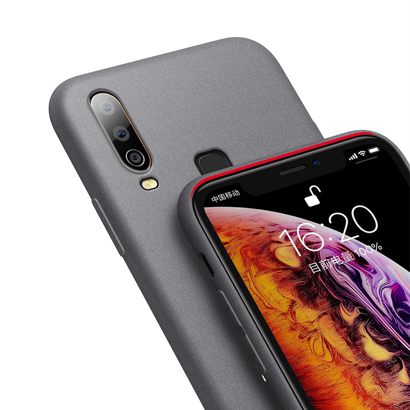 Sandstone Silicone Soft Fitted <font><b>Case</b></font> for <font><b>VIVO</b></font> Y17 <font><b>Y15</b></font> Y12 Matte TPU Full Body Protective Cover Glass Friendly image